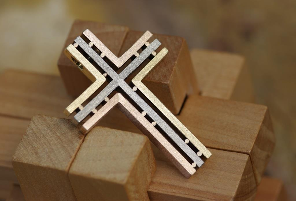 3 Gold Straight-over Cross