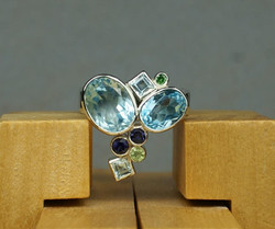Blue champagne Ring