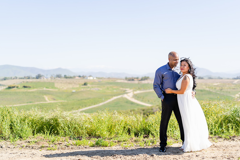 Couple Embracing at Mount Palomar Winery in Temecula, California