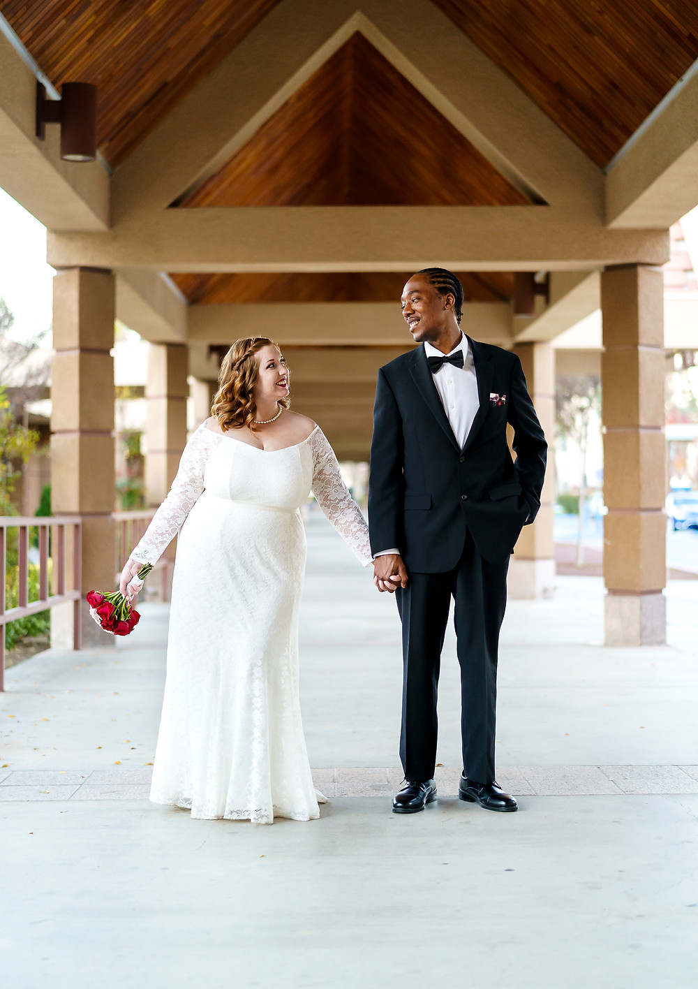 Intimate Elopement Couple at Riverside County Clerks Office in Temecula, California