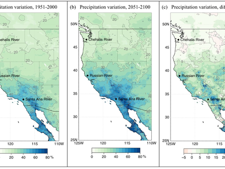 Precipitation regime change in Western North America: The role of Atmospheric Rivers.
