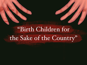 Birth children for the sake of the country