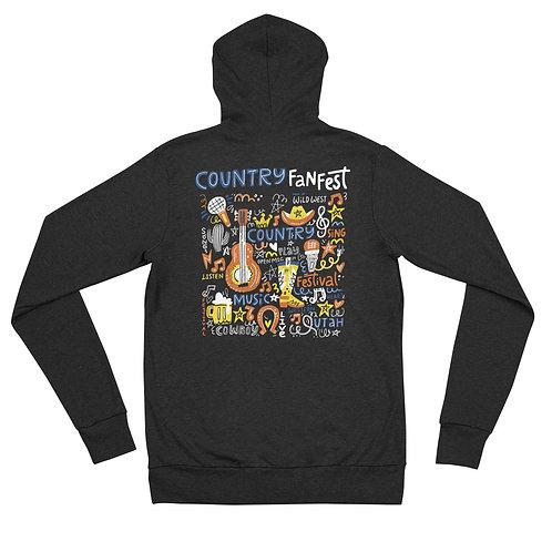 CFF Artsy zip hoodie