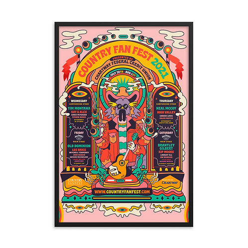 CFF 2021 Framed Collectors Lithograph