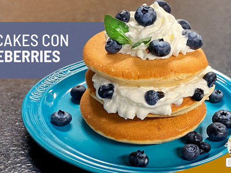 Hotcakes con blueberries