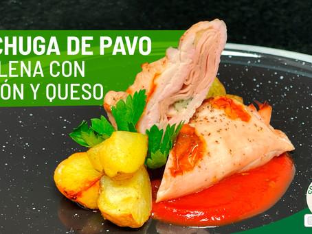 Pechuga de Pavo rellena de jamón y queso.