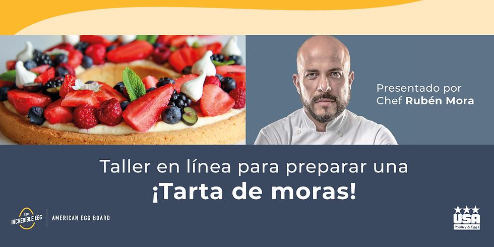 Taller en línea para preparar ¡Tarta de moras!