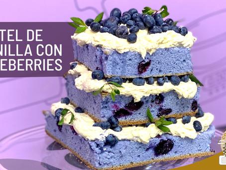 Pastel de Vainilla con Blueberries