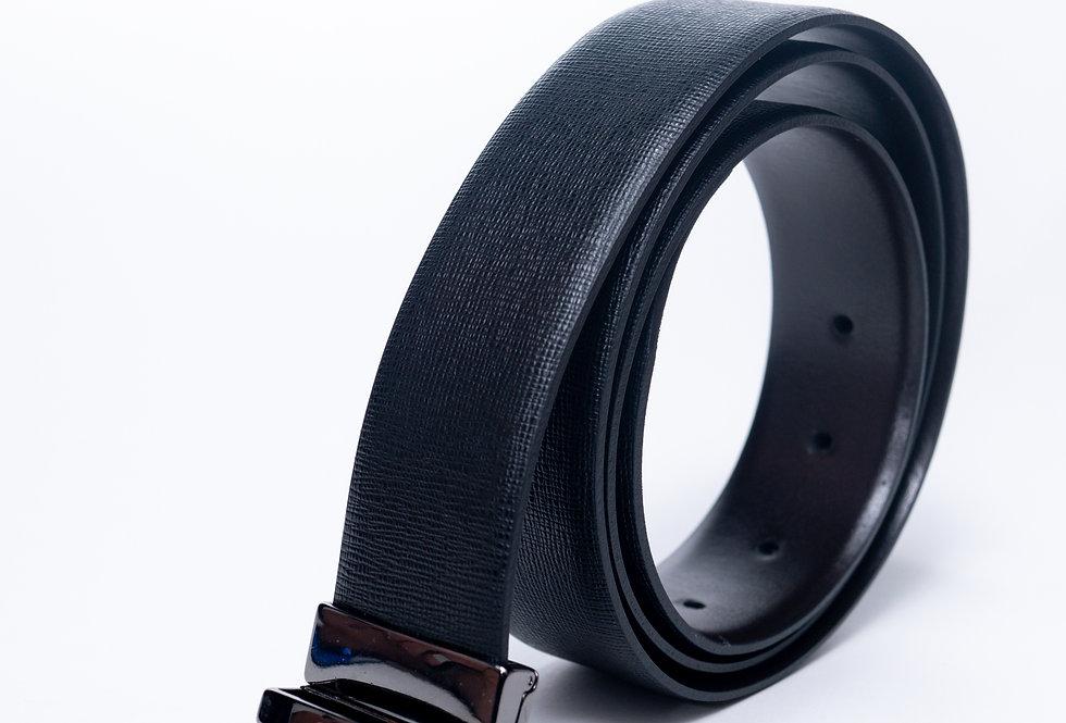 Cintura double in vitello nera/ moro made in Italy