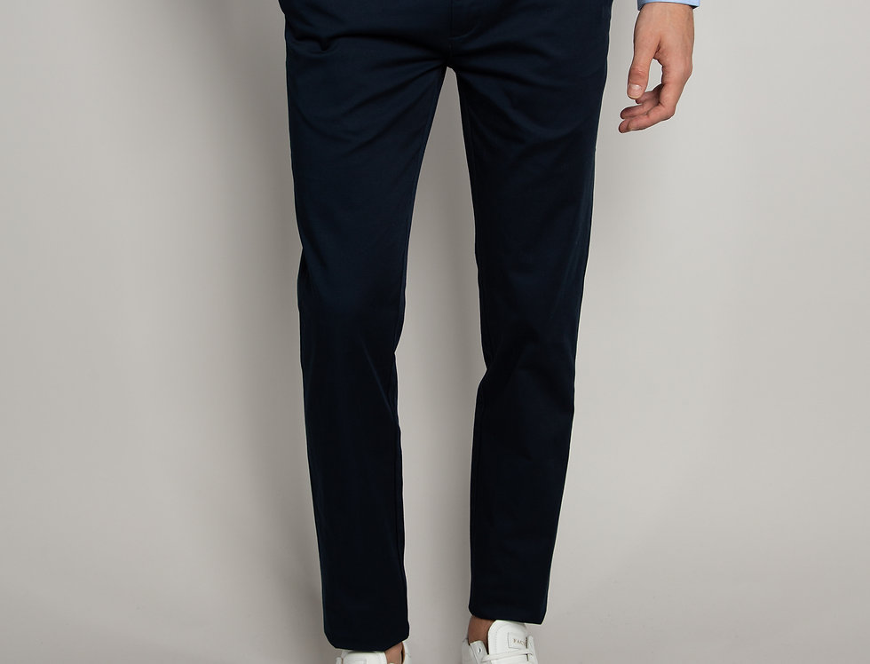 Pantalone Chino daily performance blu - slim fit
