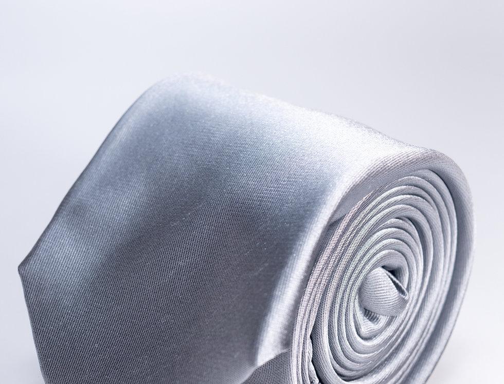 Cravatta in raso grigio perla 7cm
