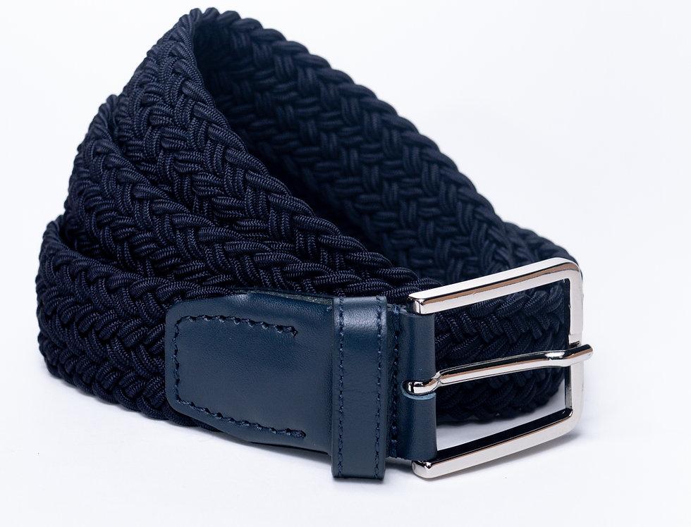 Cintura intrecciata blu made in Italy