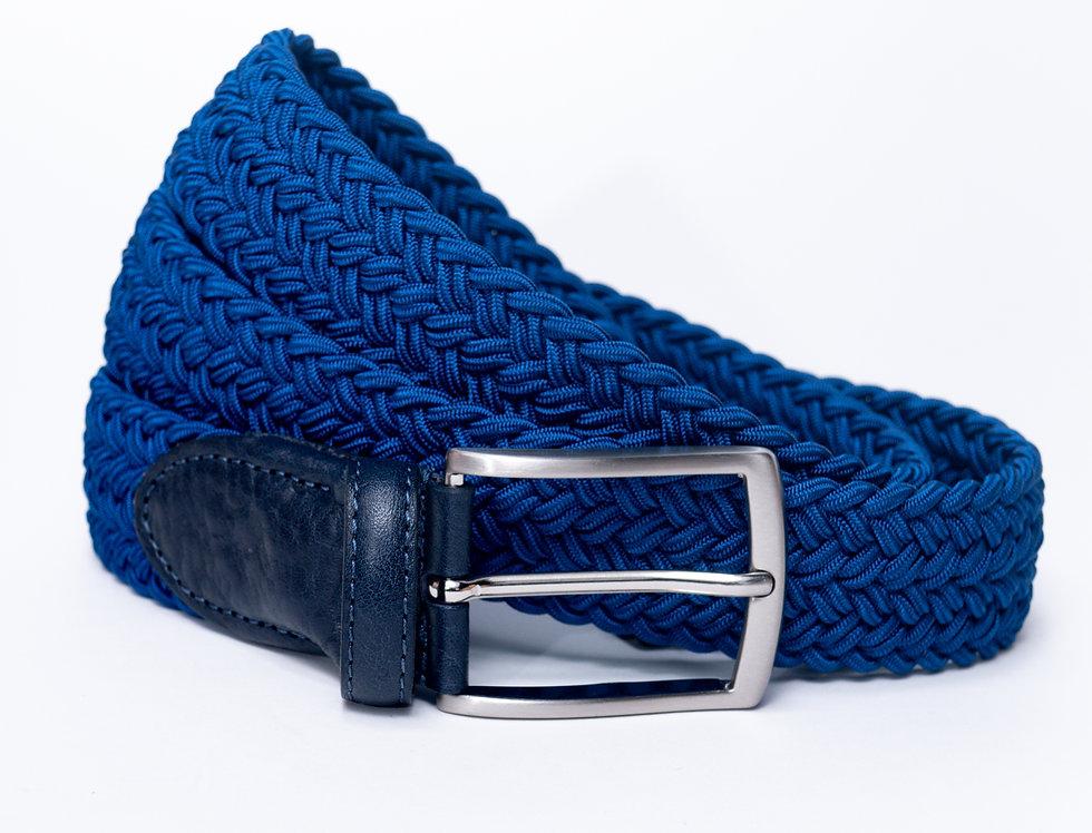 Cintura intrecciata bluette made in Italy