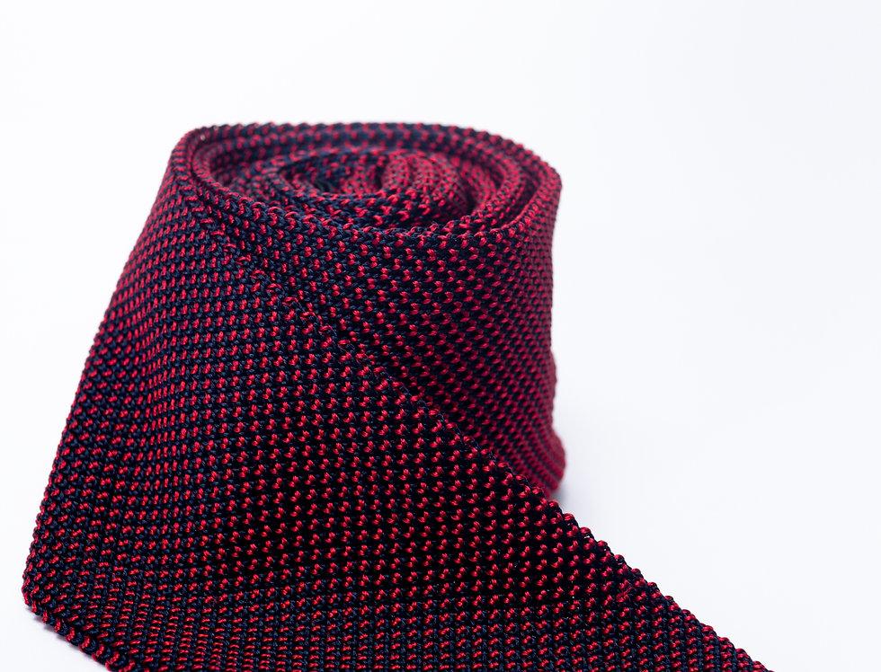 Cravatta in maglia blu e rossa