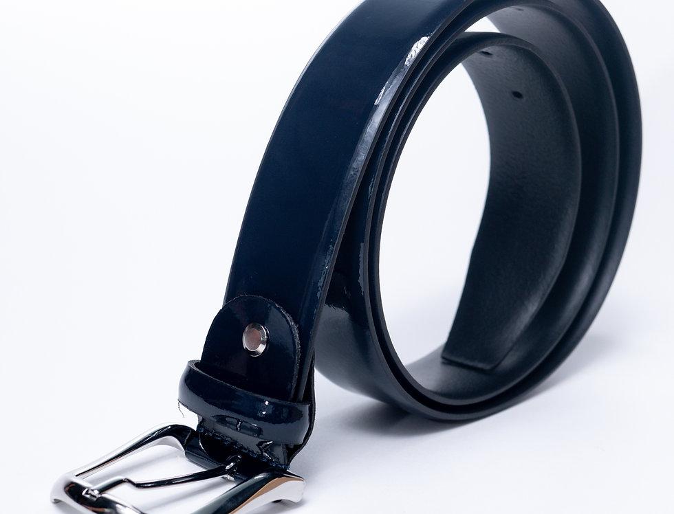 Cintura di vernice blu made in Italy