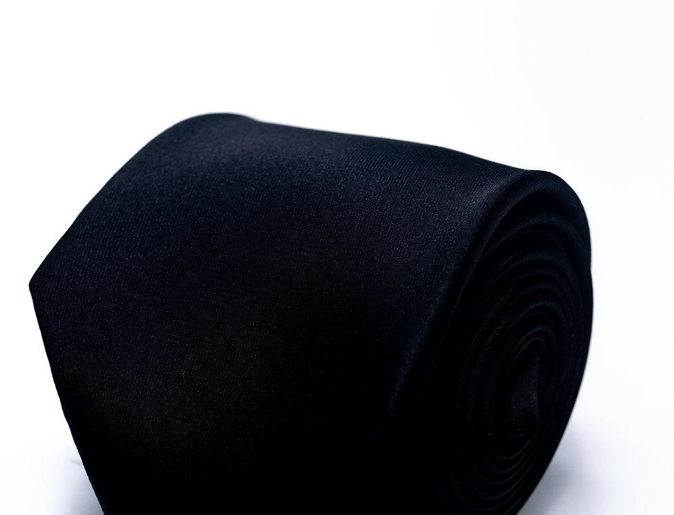 Cravatta in raso nera 7cm
