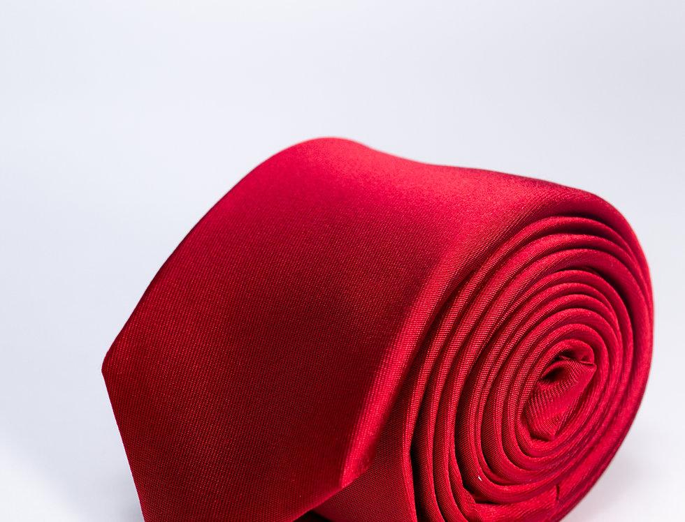 Cravatta in raso 5cm rossa