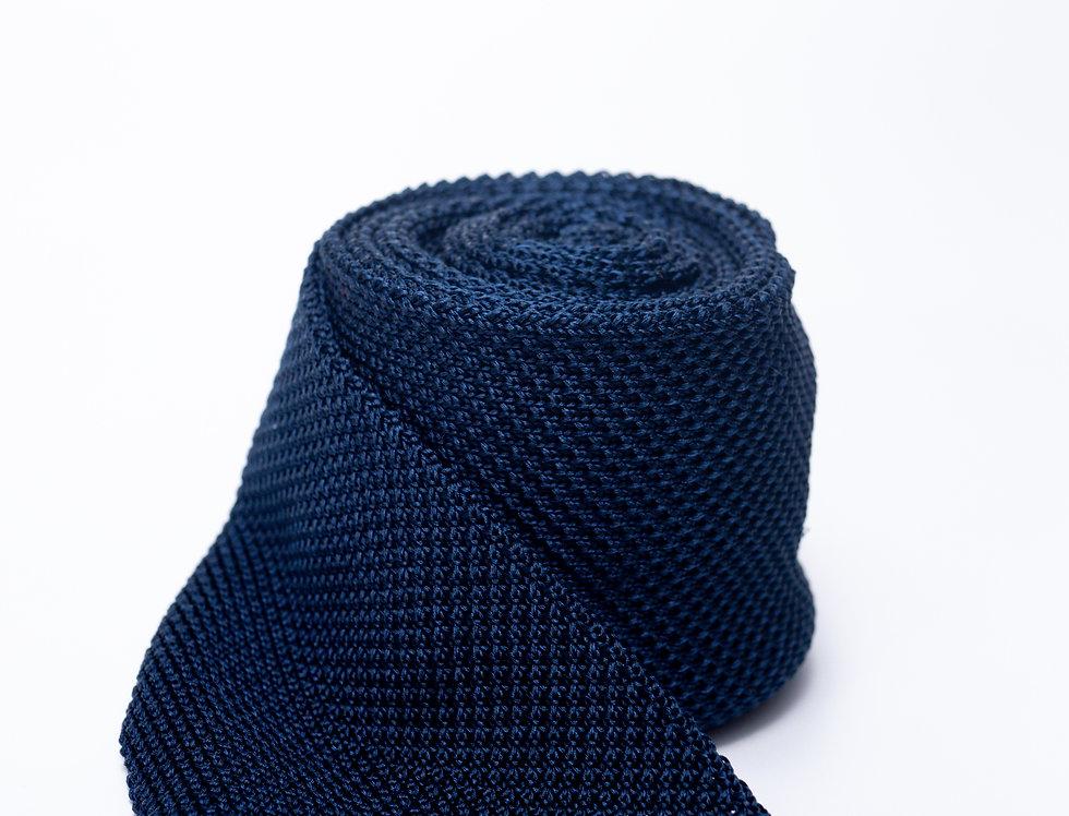 Cravatta in maglia blu