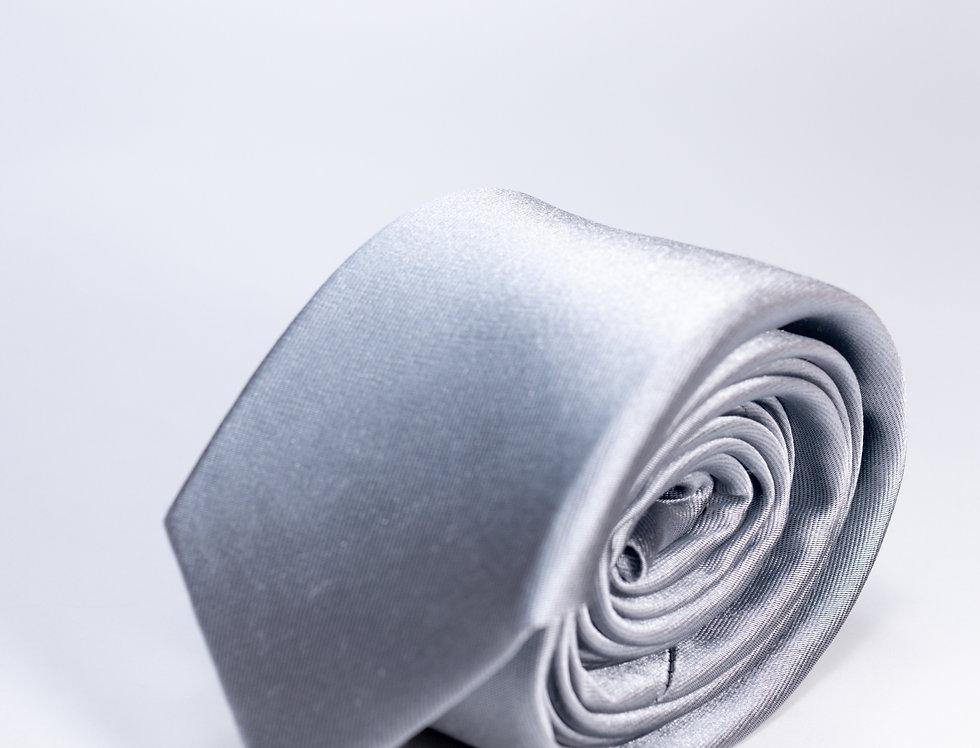 Cravatta in raso 5cm grigio perla