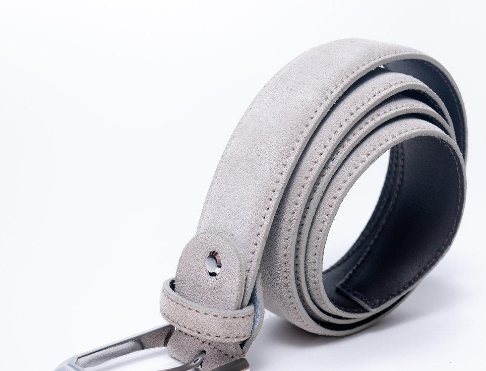 Cintura in camoscio tortora made in Italy