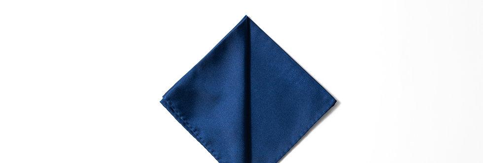 Pochette raso blu