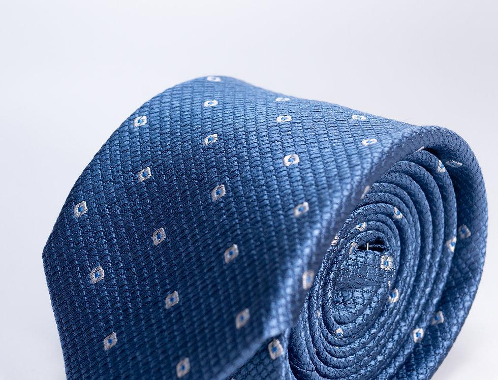 Cravatta in seta fantasia avion 7cm