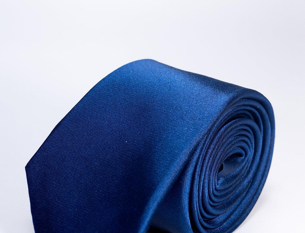 Cravatta in raso 5cm blu