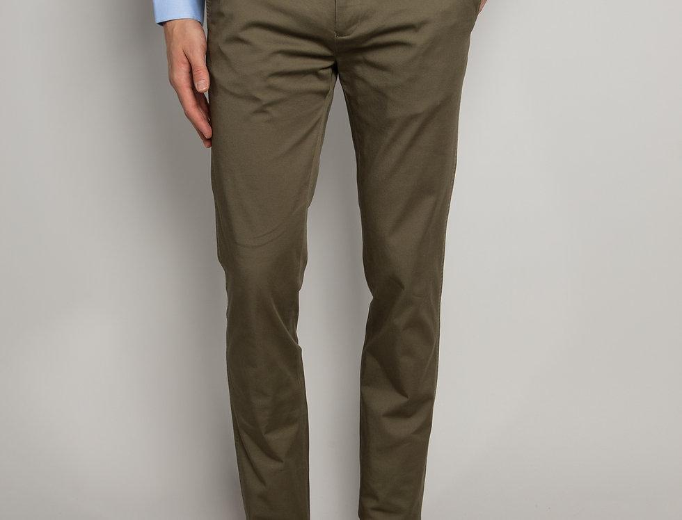 Pantalone Chino daily performance verde - regular fit