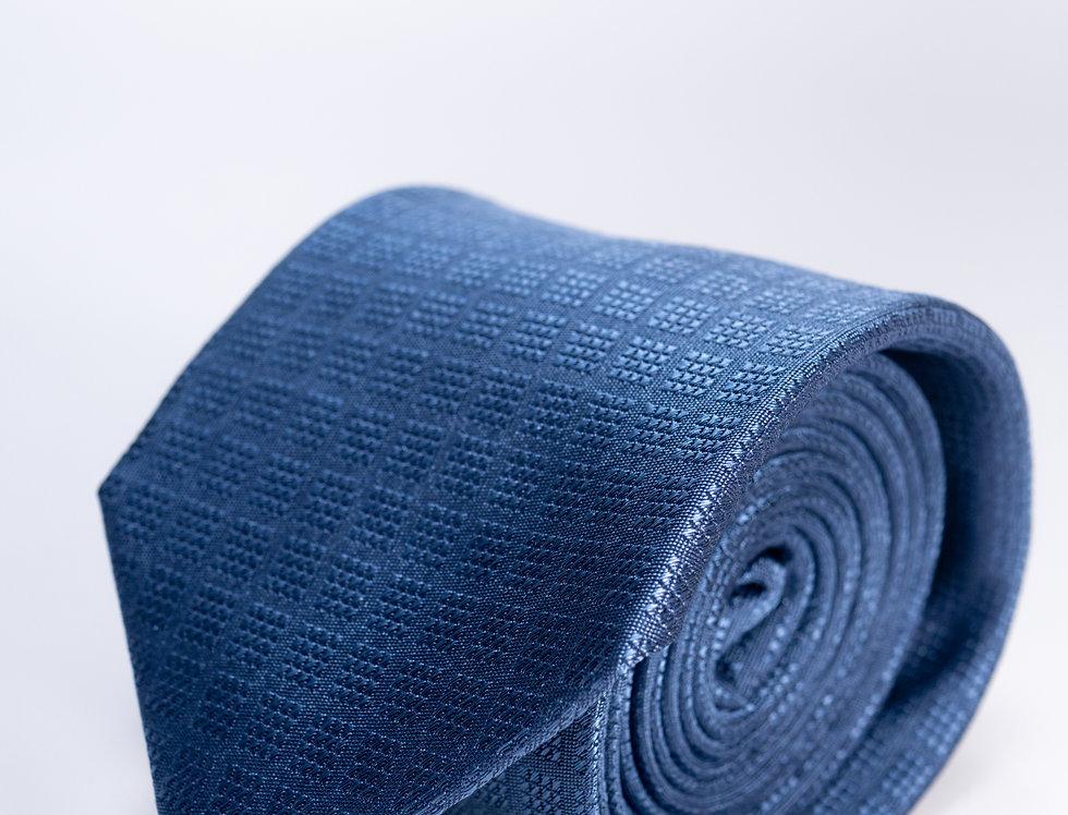 Cravatta in seta cerimonia blu 7cm