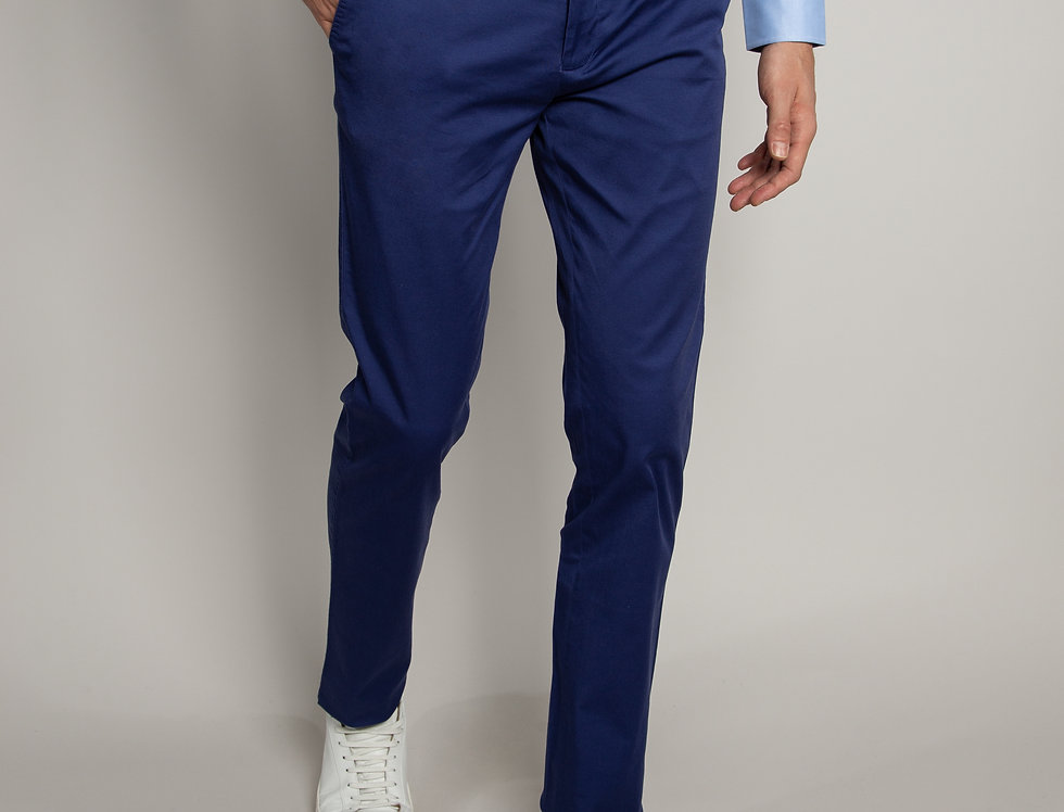 Pantalone Chino daily performance blu royal - regular fit