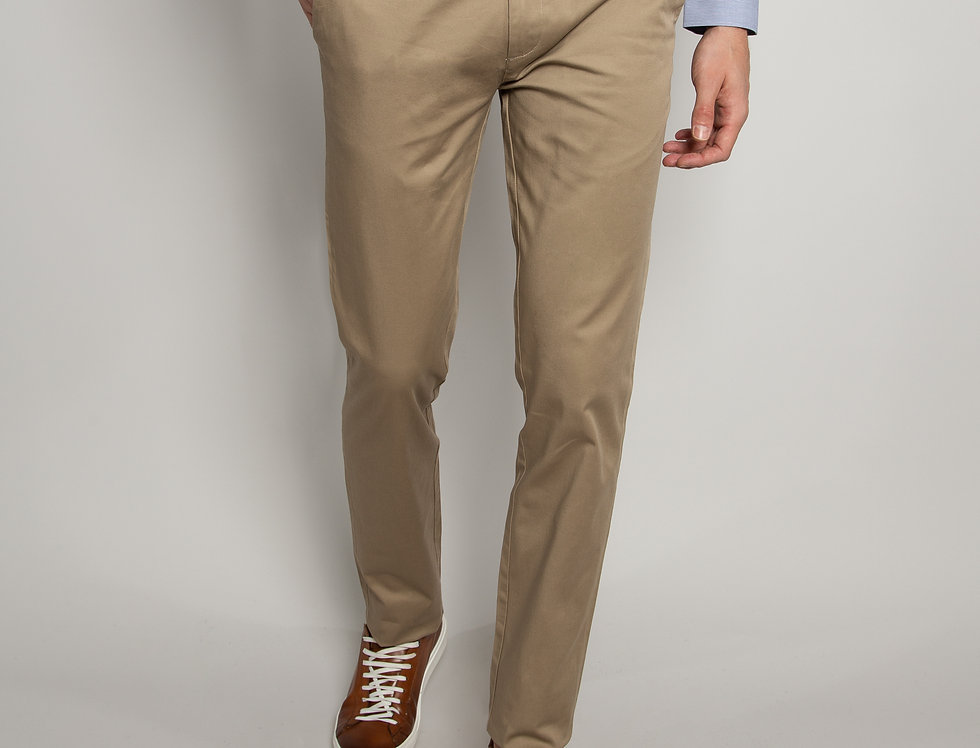 Pantalone Chino daily performance beige - slim fit