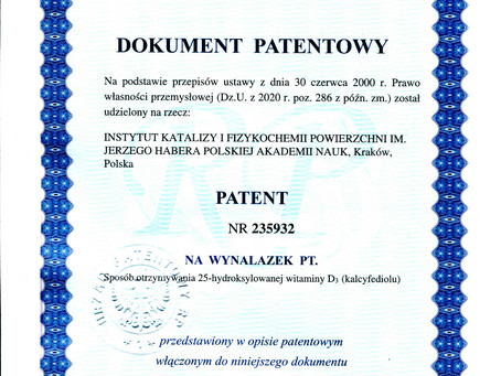 MLBKE patent on hydroxylation of vitamin D3 granted