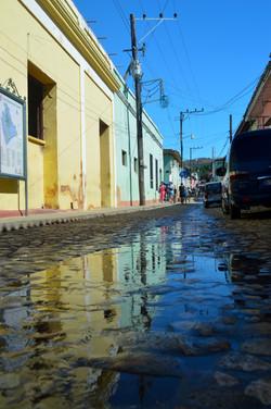 2016 Cuba Trinidad wet street