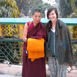 At Mahabodhi Temple