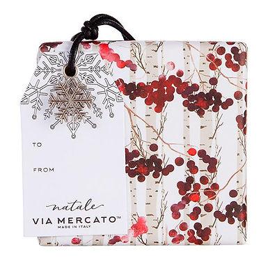 via mercato natale ornament soap - winter berry
