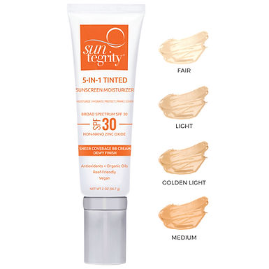 suntegrity 5-in-1 tinted sunscreen moisturizer