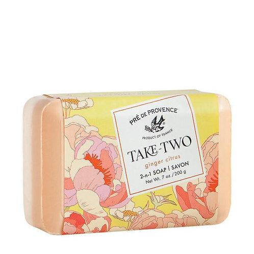 pre de provence take-two ginger citrus 2-in-1 soap