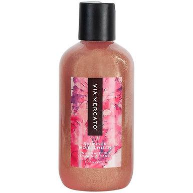 via mercato bella shimmer moisturizer - pink grapefruit