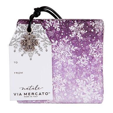via mercato natale ornament soap - falling snow