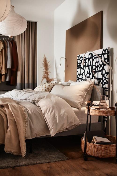 Schlafzimmer natürlich beige holz neutral