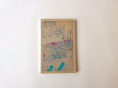 Blank memo pad. on the cover an original hand painted vintage pape