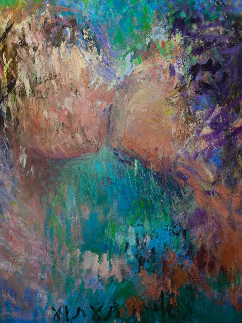 "Oil painting ""Phantom Island"" 2019"