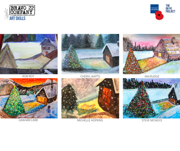 WINTER WATERCOLOURS with FANNY GOGH