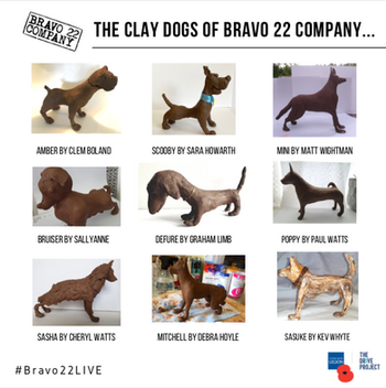 THE CLAY DOGS OF BRAVO 22 COMPANY with AL JOHNSON