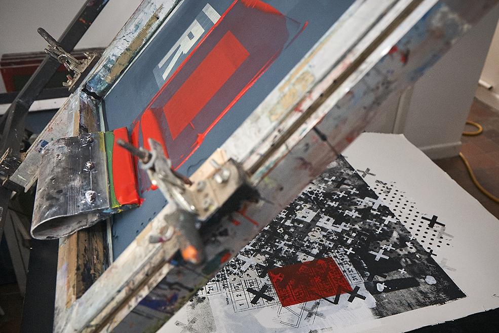 The screen print process