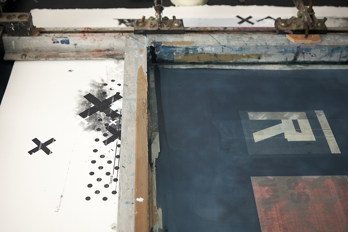 The screen print process