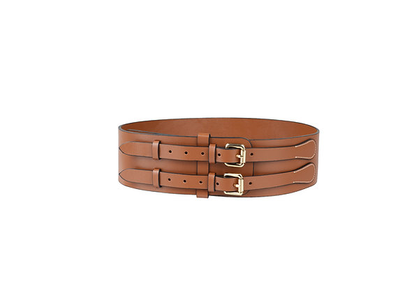 Corso Brown Double Layered Leather Belt