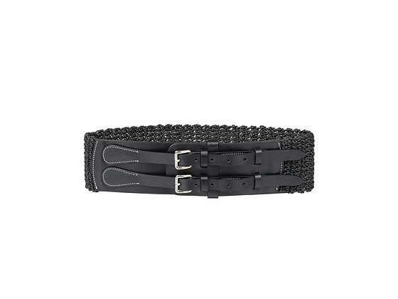 Demi Black Straw Belt