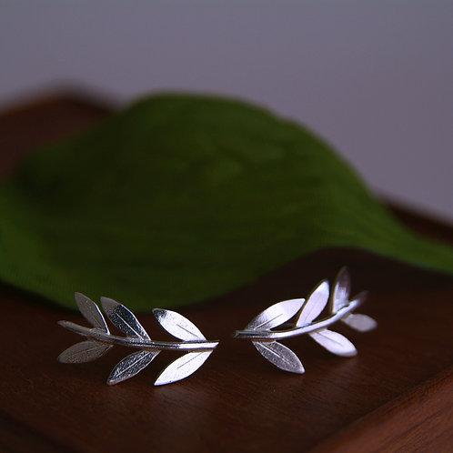 Grecian Style Leaf Earrings