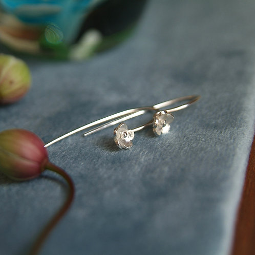 Silver Forget-Me-Not Earrings